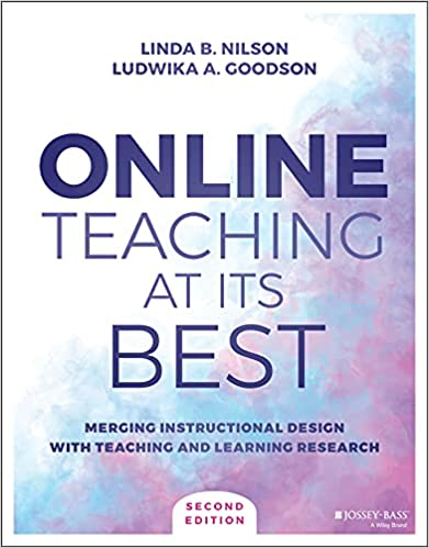 """Book Cover """"Online Teaching at Its Best"""" by Ludwika """"Ludy"""" Goodson"""