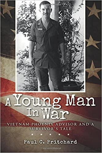 """Book cover """"A Young Man in War"""" by Paul Pritchard"""